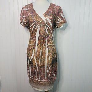 Chesley V-Neck Short Sleeve Shirt Dress Large